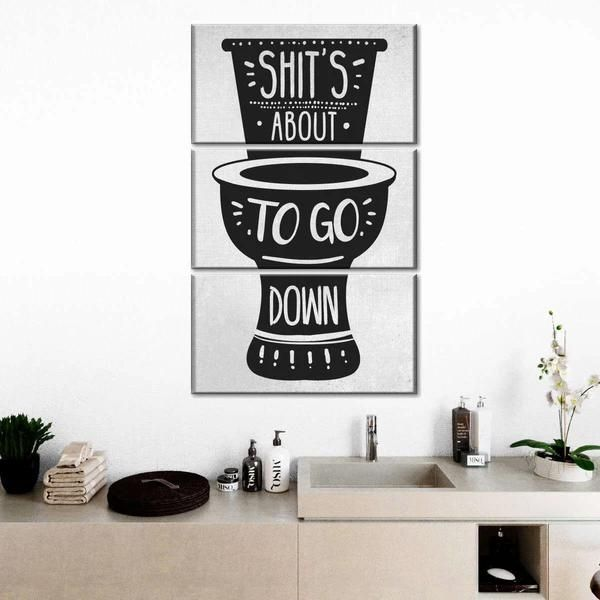 Shit's Going Down White Multi Panel Canvas Wall Art