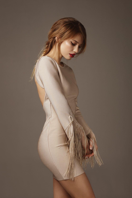 woman wearing a bodycon dress