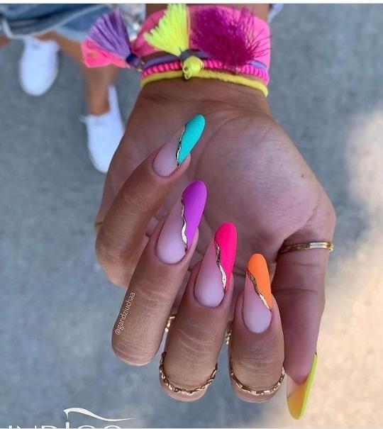 indigo nail designs