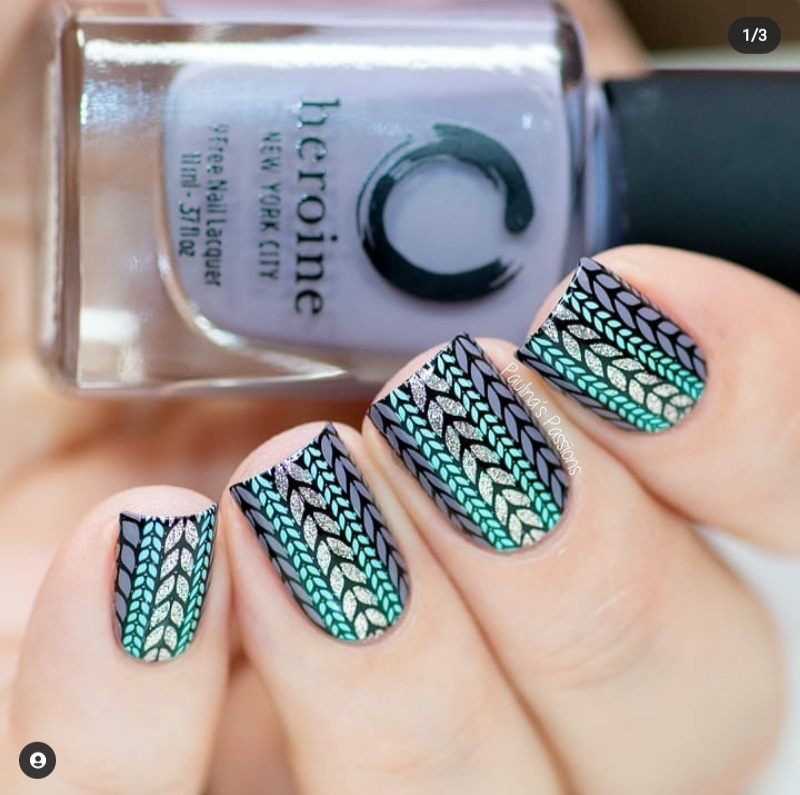 sweater nail designs
