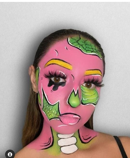 Zombie makeup for Halloween