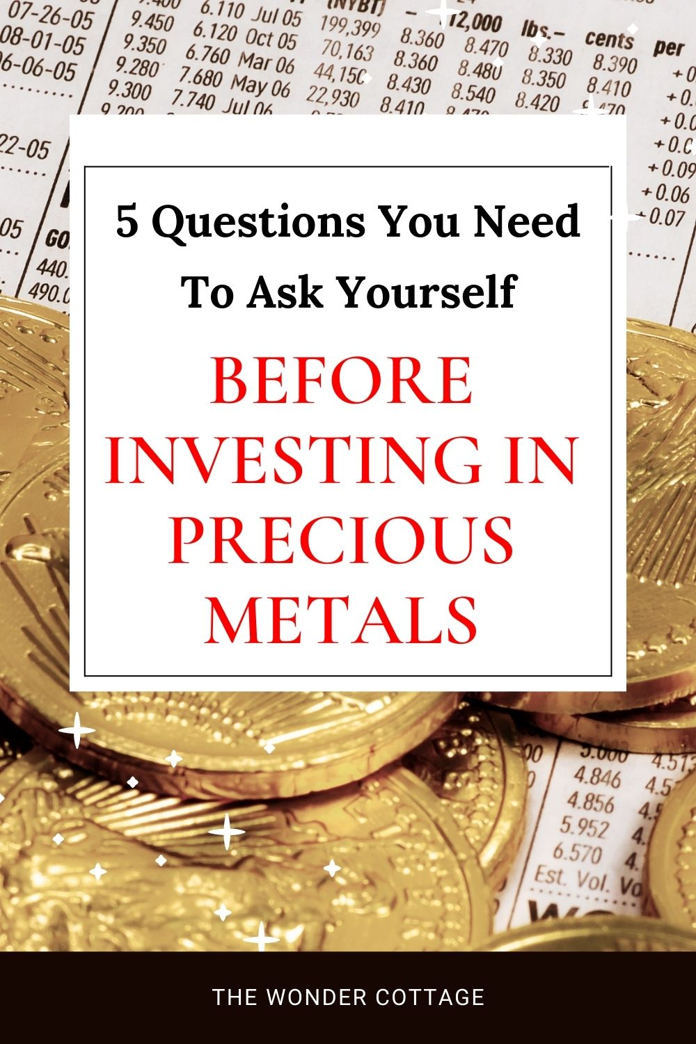 5 Questions To Ask Yourself Before Investing In Precious Metals