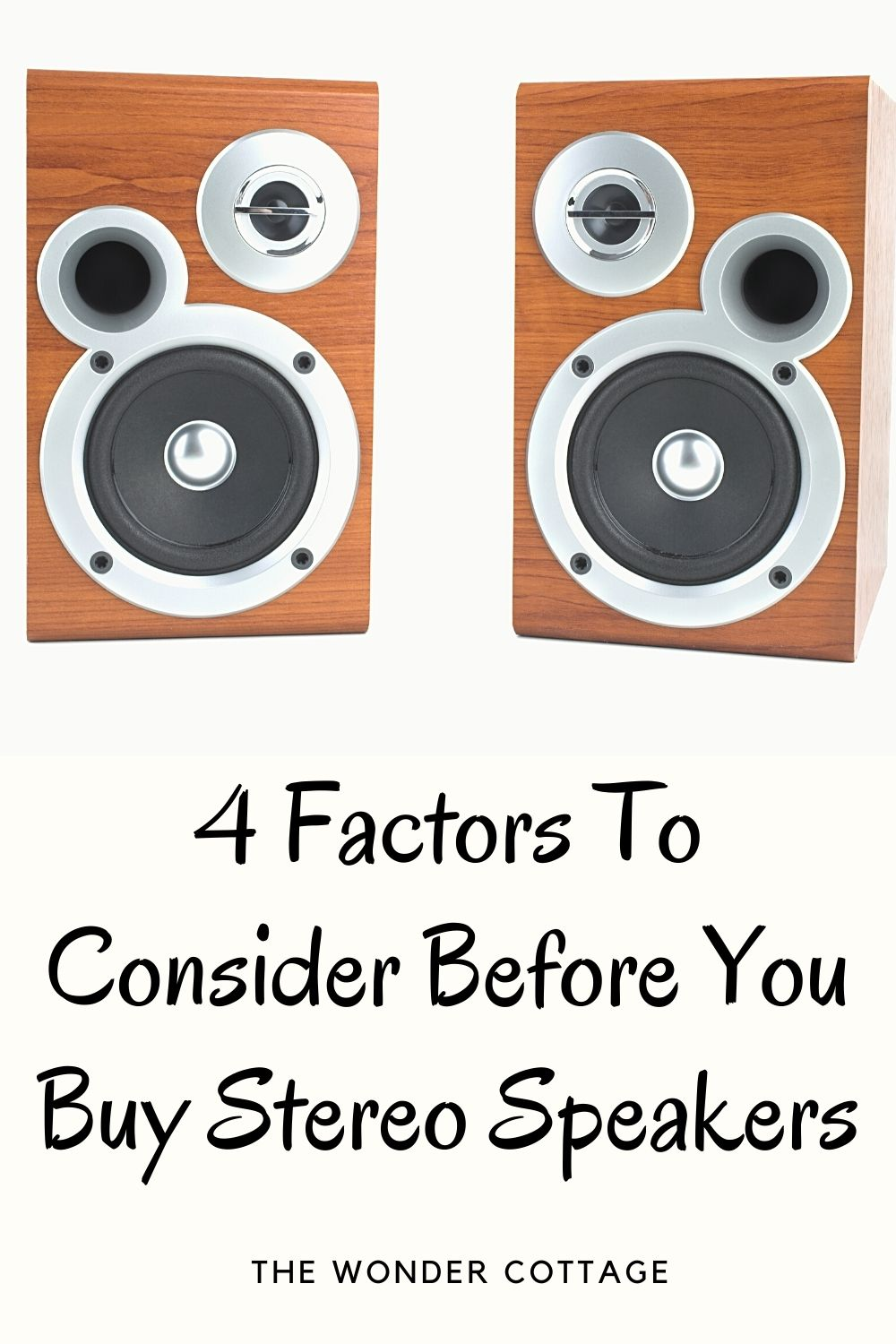 4 Factors To Consider Before You Buy Stereo Speakers